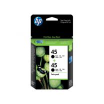 HP 45 Black Twin Ink Pack 2X 830 Page Yield