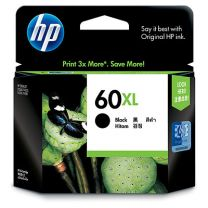 HP 60Xl Black Ink, 600 Page Yield
