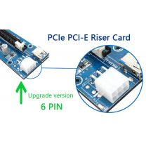 Konix PCI Express 1x to 16x  Riser card Kit ( for Bitcoin Cryptocurrency Mining  )