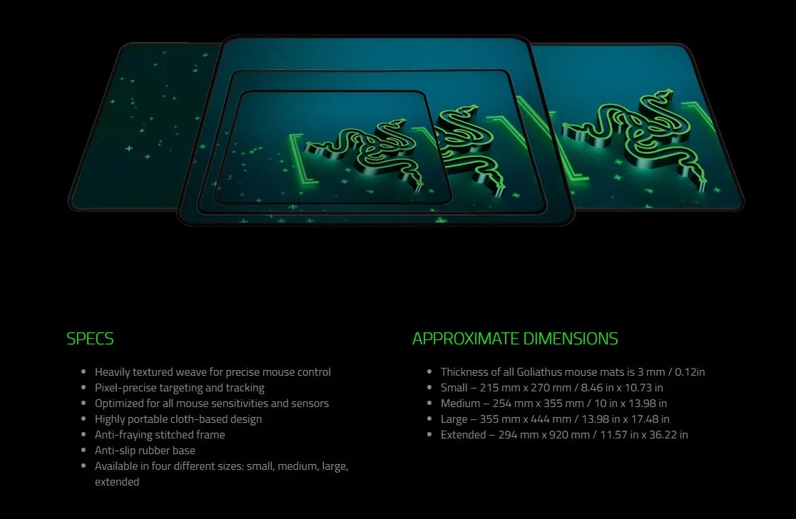 9f8f6cb0a72 Razer Goliathus Control Gravity Edition Extended Mouse Mat - Optimized for  all Mouse Sensors, Anti-Fraying Frame, Anti-Slip Rubber Base, Extended  294mm x ...