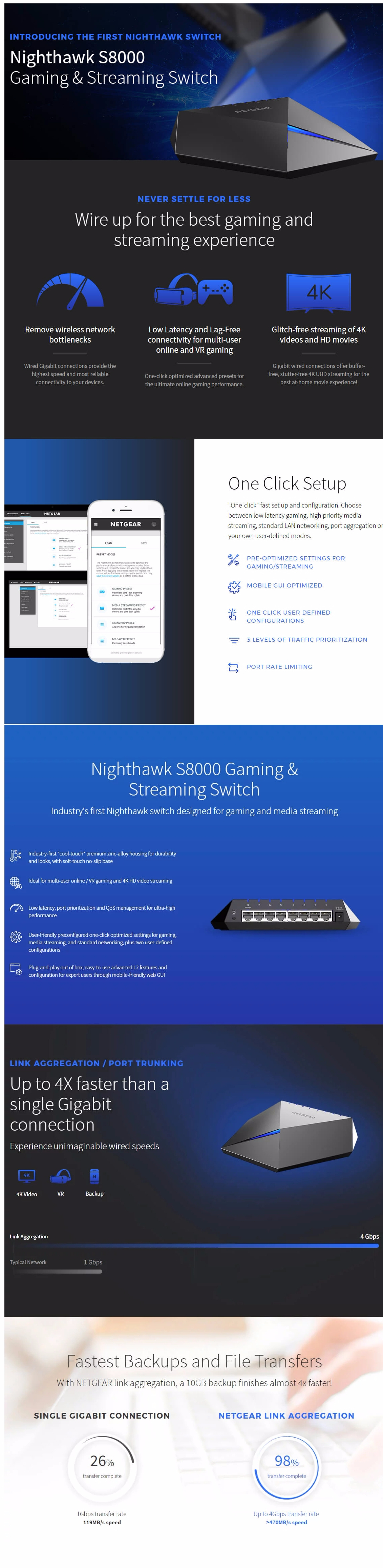 Netgear Nighthawk S8000 8-Port Gaming & Switch