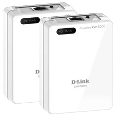 D-Link DHP-701AV PowerLine AV2 2000 Gigabit Network Kit